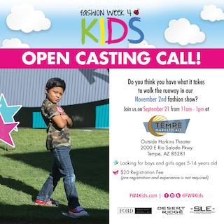 Fashion Week 4 Kids Casting Call