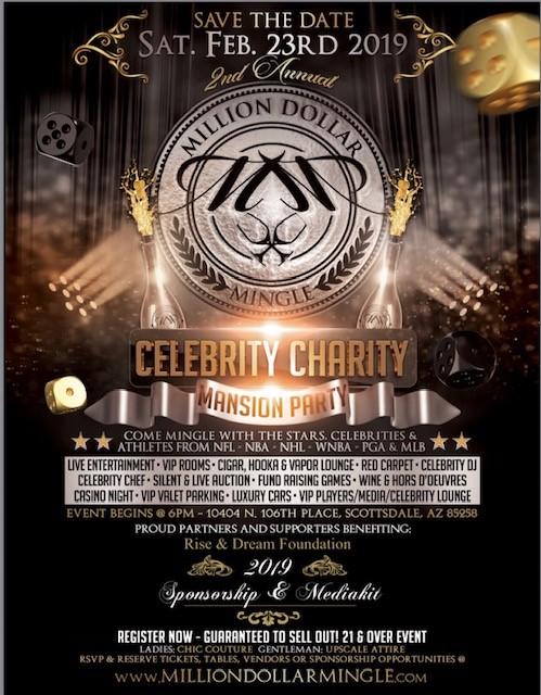 Million Dollar Mingle Celebrity-Rise And Dream Mansion Fundraiser