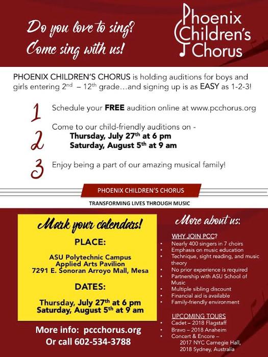 Phoenix Children's Chorus Auditions