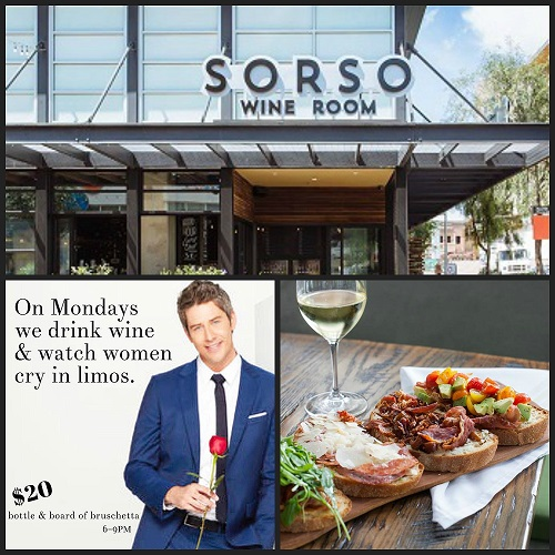 Bottles, Boards & The Bachelor at Sorso Wine Room