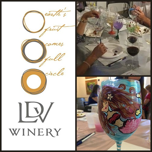 Wine Glass Painting at LDV Winery Wine Gallery
