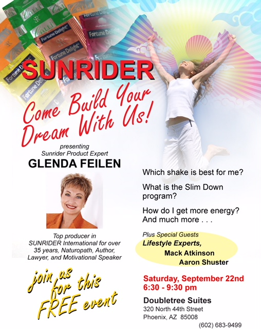 Come Build Your Dream With Us - FREE!!! Sunrider Event